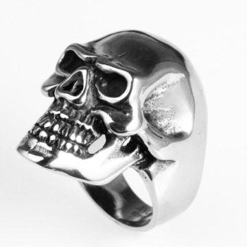 Anello da teschio Harley Knight Motocross in stile personalità punk