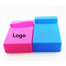 Silicone rubber cigarette case reusable case silicon