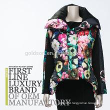 2017 Fashion European Printing Women Down Jacket
