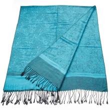 Fashion Reversible colors semi pashmina shawls Paisley Jaquard