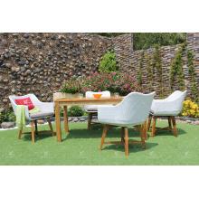Ensemble de salle à manger en poly rotin Patio Garden