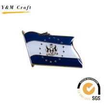 Nationalflagge mit zweifarbigen Abzeichen Anstecknadel für Geschenk (Q09138)
