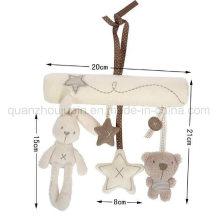 Custom Baby Stuffed Plush Bed Hanger Rabbit Doll Toy