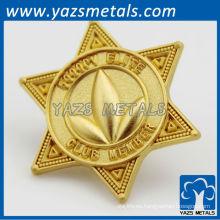 la aduana 24k gold plating bagdes / lapel pins fábrica directa