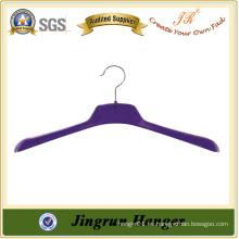 Venta caliente Pantalla Púrpura percha de abrigo de plástico