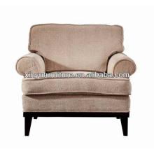 Hotel single sofa big upholstered wooden sofa chair XY0908