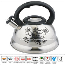 Nylon Handle Flower Printing Induction Whistling Kettle