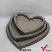 Wholesale Love Heart Farmhouse Antique Wood Tray