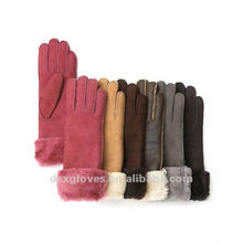 fashion sheepskin turn cuff gloves