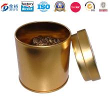 Round Money Coin Tin Box pour thé vert