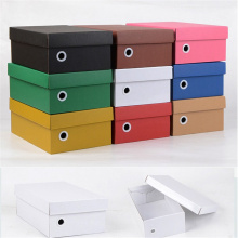 Custom Foldable Corrugated Cardboard Shoe Box Packaging