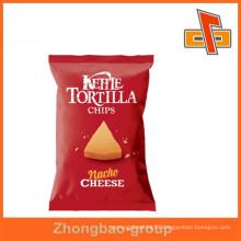 Plastic food grade custom printing potato chips packaging bag