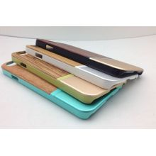 Wooden Metal Bumper Mobile Phone Cover for iPhone 6