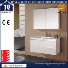 Hot Selling White Lacquer Bathroom Vanities with Mirror Cabinet