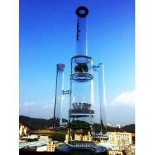 2016 New Awesome Design Duschkopf Inline Perc Recycler Rauchen Glas Wasser Rohr