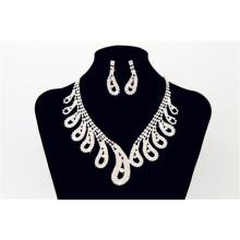 Hochzeit Bling Perlen Halskette mit Ohr Ring