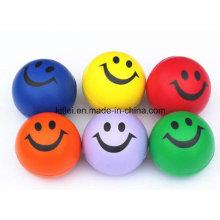 Mini Hot-Sell colorido sonrisa estrés emoción suave Jumping Ball Toy