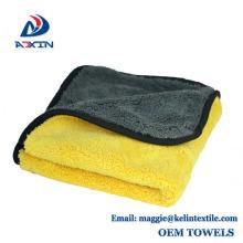 Schnelles Trockenauto-Reinigungstuch-Mikrofaserkorallen-Fleece-Tuch mit kundenspezifischer Größe / Verpackung