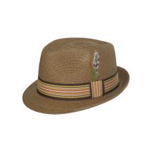 New Design Fedora Cowboy Straw Hat with Middle Belt (FS0003)