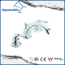 Popular Three Hole Basin Faucet Brass Lavatory Faucet Tap (AF0029-6)