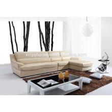 Sofá de sala de estar de alta qualidade em couro bege KW353