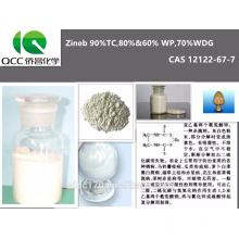 Excelente fungicida Zineb 90% TC, 80% y 60% WP, 70% WDG, 12122-67-7