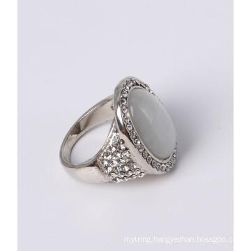 Cheap Price Fashion Jewelry with White Cat Eye and Rhinestones