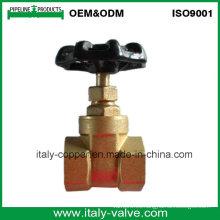 Válvula de compuerta forjada de latón con certificación Sanwa CE (AV4055)