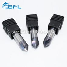 Ferramenta de BFL para a personalização dos moinhos de extremidade da chanfradura do carboneto de tungstênio do CNC