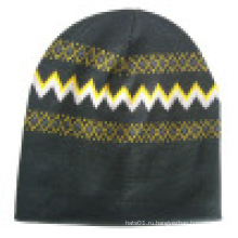 Вязаная шапочка с трикотажем в дизайне NTD71