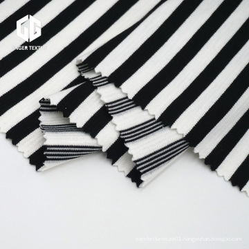 Striped Yarn Dyed Ottoman Fabric For T-shirt