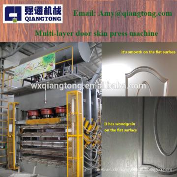 Mehrschichtige Melamin-Türhaut-Pressmaschine / Holztür-Pressmaschine