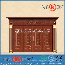 JK-C9020 commercial copper entry door with factory price four leaf door
