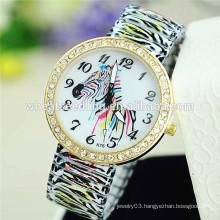 2015 delicate zebra alloy band watch wrist watch