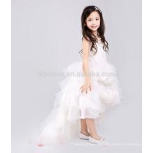 White A-Line Zipper Back Rosette Skirt Customized Flower Girl Dress Vestidos FGZ41 Children Dress