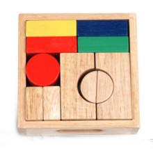Hölzerner geometrischer Block für Kinder
