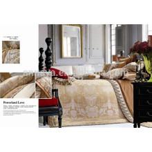 Luxuoso estilo real jacquard cama set seda como China Preço