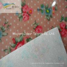 Transparente PVC mit gedruckten Polyester Oxford-Gewebe