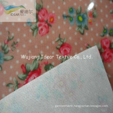 Transparent PVC With Printed Polyester Oxford Fabric