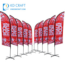 Wholesale china custom promotional full color printing advertising brand mobile shop feather banners