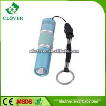 12000-15000MCD mini tamaño 9 aluminio llevó linterna linterna