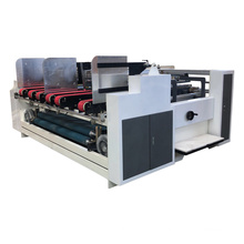 Corrugated cardboard semi automatic two pieces carton box folder gluer machine