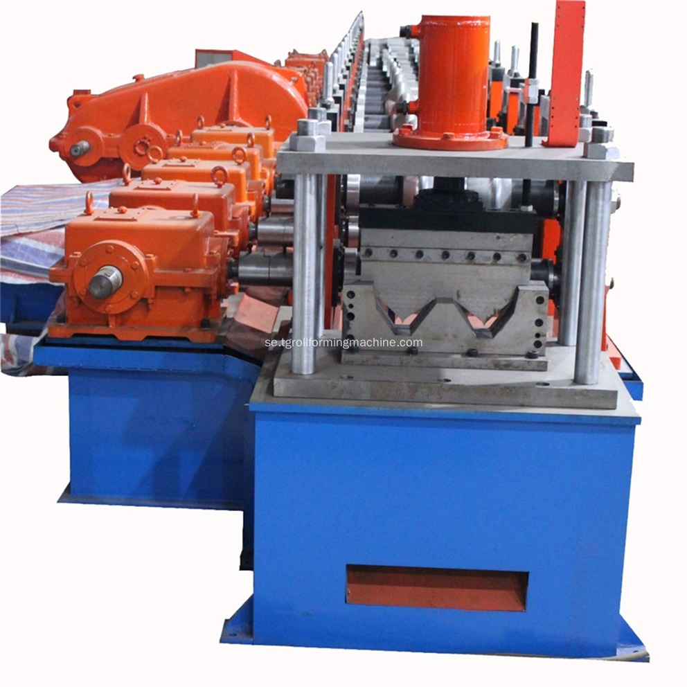 Aluminium Galvaniserad Highway Guardrail Roll Forming Machine