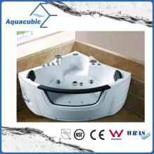 Banheira de banheira de hidromassagem branca em canto (AB0839)