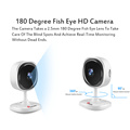 كاميرا 1080P Fisheye Panoramic 180 WiFi