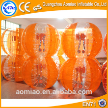 Hot sale bounce bubble ball pour le football/inflatable body bumper ball