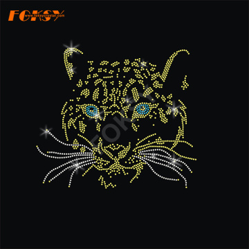 Tiger Animal Hot Fix Rhinestone Transfer Motiv