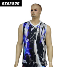 Men Fashion Fast Dry Sleeveless Sports Gym Tank Top Singlet, Blank Jersey Basketball Mens Singlet