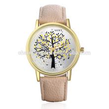 2016 Elegante hermoso reloj de pulsera de cuarzo de cuero simple correa SOXY010
