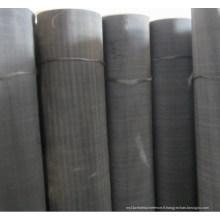 Mesh en maille noire / maille en acier doux / tissu en fil noir